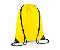 Sac à dos à bretelles - gym - linge sale - chaussures - BG10 - jaune - Sac à dos bandoullière