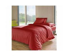 Housse de couette TUTTI TEMPO 140 x 200 cm Cranberry - Linge de lit