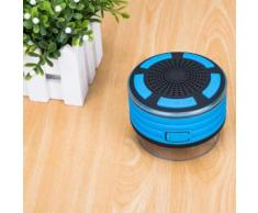 Haut-parleurs portables Bluetooth sans fil avec radio Douche Haut-parleur IPX7 Ventouse - Enceinte intelligente