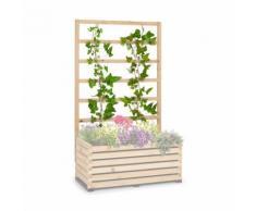 Blumfeldt Modu Grow 100 UP Treillis pour carré potager , 151 x 100 x 3 cm , bois de pin massif - Accessoires de culture