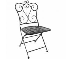 Chaise de patio pliante classique en acier bolero noire (lot de 2) - Mobilier de Jardin