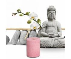 Bien-Être Bougie Parfumée - Amandiers En Fleurs, Rose (5x4 cm) - Bougeoir, bougie et senteur