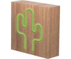 Lampe-enceinte ColorLight Néon cactus avec charge induction taille L Co - Enceinte sans fil