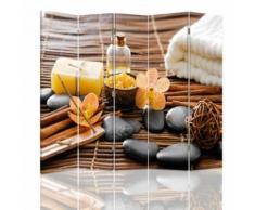 Feeby Cloison amovible décorative Paravent pivotant 5 pans, Accessoires spa 180x180 cm - Objet à poser