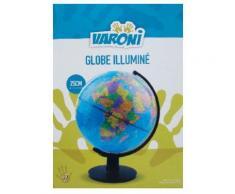 Globe terrestre rotatif et lumineux 25 cm - en français - Jeu découverte