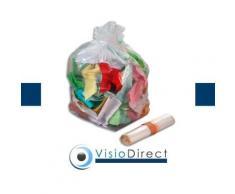 Sac poubelle 110L transparent par 200 - Corbeille, bac à courrier, poubelle