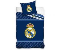 Real Madrid bleue - Parure de Lit Football - Housse de Couette coton - Linge de lit