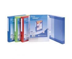Boîte Exacompta classeur à Pression Dos 4cm Kreacover Transparent assorties - Boîte de classement