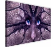 Image Décoration murale Tableau Toile Canevas Regard bleu Fantasy 60x40 - Décoration murale