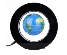 Globe Terrestre LED Levitation Magnétique 3 Lumineux Flottant Bleu - Objet à poser