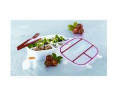 Maxx-Cuisine - Boite à repas - Boite déjeuner - Lunch box - Conservation avec compartiments et couverts - Boîte de rangement