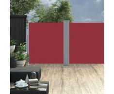 Auvent latéral rétractable 170 x 600 cm Rouge - Matériel de construction toiture