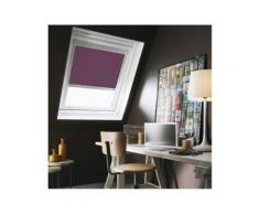 Store Enrouleur Occultant compatible Cadre Alu VELUX® - 117 x 74/116cm - U04/U08-Prune - Fenêtres et volets