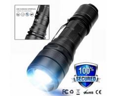 P50 lampe de poche LED USB de charge zoomables 5 Modes Éclairage extérieur Camping torche Kiliaadk436 - Torches