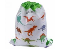 Sac-cadeau dinosaure Sac non-tissé Sac à dos Enfants École de voyage Sacs à cordon - Linge de table