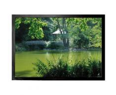 Parcs Paillasson Essuie-Pieds - Lac Avec Pont Vers Une Île Dans Un Parc À Fribourg (50x70 cm) - Tapis et paillasson