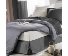 Cache-sommier à nouettes anthracite 160x200 cm - Linge de lit