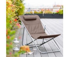 Chilienne Bilbao coloris taupe Hespéride - Mobilier de Jardin