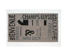 Paris Paillasson Essuie-Pieds - Bienvenue, Retro (40x70 cm) - Tapis et paillasson