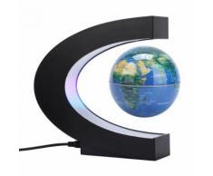 Globe Terrestre LED Levitation Magnétique 4 Lumineux Flottant Bleu - Objet à poser