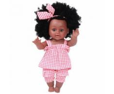 Black Girl Afro-Américaine Poupées Jouer Lifelike 35cm de Poupées Jeu pour bébé Rd Poupées rouge PT277 - Jouet multimédia