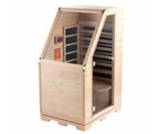 Sauna infrarouge compact en bois, 760 W - Saunas