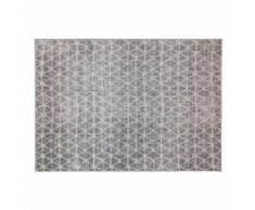 Tapis graphique beige 150 x 200 cm FLAKE - Tapis et paillasson
