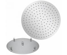 Pomme de Douche fixe Rond 50Ø cm effet pluie Orientable extra-plat Pommeau de Douche en acier - Accessoires salles de bain et WC