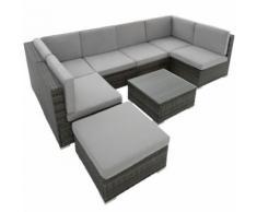 TecTake Canapé de Jardin VENISE 7 places - gris - Mobilier de Jardin