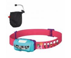 Lampe Frontale Imperméable LED Pour Enfant à Pile 2 Lumières Blanche+1 Lumière Rouge (Bleu) - Running