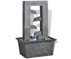 vidaXL Fontaine d'intérieur avec lumière LED Poly-résine - Décoration d'extérieur