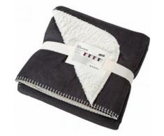 Plaid couverture polaire bi-colore 130 x 180 - JN955 - gris anthracite - taille:unique - Textile séjour