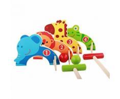 Apprentissage Puzzle Animaux Jeu de Baseball Gateball Kit Pédagogique Jouets D'Enfants En Bois BT266 - Autre jeu d'imitation