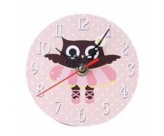 Vintage Antique Mandrin Bois Horloge Murale Pour La Maison Cuisine Bureau Rose PL171 - Décoration murale