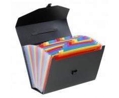 Trieur valisette à 24 compartiments Viquel Rainbow Noir - Autres Classement et Archivage
