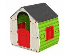 Petite maison pour enfant 90x102xh109cm en résine colorée jardin extérieur 1056 - Maisons de jardin