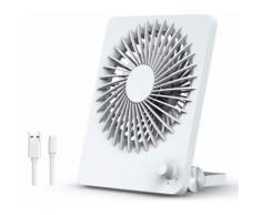 Mini USB Portable Bureau Puissant Vent Silencieux de Table ALlBiz Ventilateur fan Rechargeable Batterie de 2600mAh Commutateur de Vitesse Infiniment Variable 160° Ajustement Chambre Voyage-Blanc - Puzzle enfant