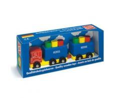Camion en bois avec remorque 6 blocs - Autres jouets en bois