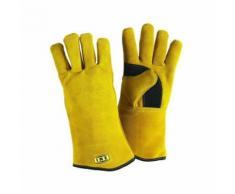 ine gant anti chaleur en cuir véritable gamme professionnelle - Équipement pour brasage et soudage