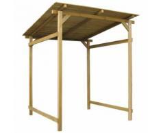 vidaXL Auvent de Jardin Bois de Pin Imprégné 170x200x200 cm Tonnelle Pavillon - Mobilier de Jardin