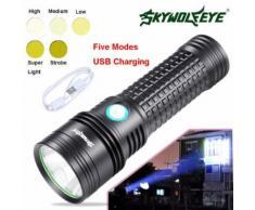 Extérieur SST20 L2 5 LED Modes lampe torche Super Bright Pour AA / 14500 Kiliaadk122 - Torches