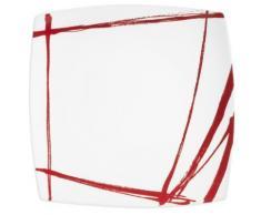 Table Passion - Plat Carre Rouge 31 Cm Porcelaine Decor Expression - vaisselle