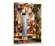 August Macke Poster Reproduction Sur Toile, Tendue Sur Châssis - Grande Vitrine Illuminée, 1913 (40x30 cm) - Décoration murale
