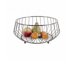 Corbeille à fruits design métal Kink - Gris fumé - Article de décoration