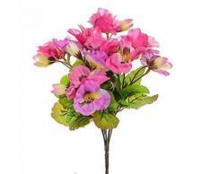 Pose de pensées artificielles en soie rose - Plantes artificielles
