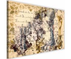 Tableau moderne Image Toile Cadre déco Canevas Femme en miroir Abstraction 120x80 - Décoration murale