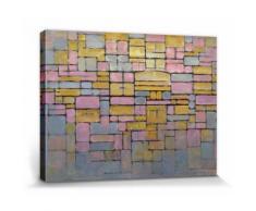 Piet Mondrian Poster Reproduction Sur Toile, Tendue Sur Châssis - Tableau No. 2 Composition No. V (40x30 cm) - Décoration murale