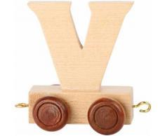 Small Foot chariot de train lettre V bois beige 5 x 3,5 x 6 cm - Autres jouets en bois