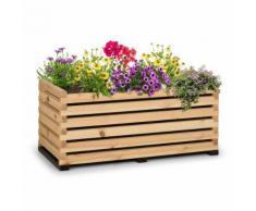 Blumfeldt Modu Grow 100 Carré potager surélevé 225 litres , 100 x 50 x 45 cm , bois de pin massif - Jardinières et bacs