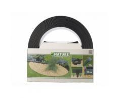 Bordure en polyuréthane pour jardin et bassin Noir - 15 m x H.12 cm - Accessoire bassin d'agrément